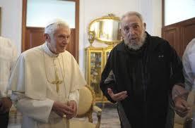 Storico incontro tra Papa Benedetto XVI e Fidel Castro