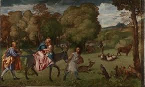 Fuga in Egitto di Tiziano